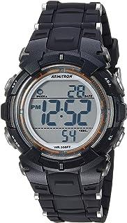 Armitron Sport Women's Quartz Sport Watch with Resin Strap, Black, 16.1 (Model: 45/7111BLK)