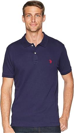Slim Fit Interlock Solid Polo Shirt