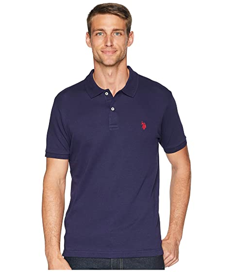 ASSN Polo U S Interlock Slim Fit POLO Shirt Solid qwCpw4g