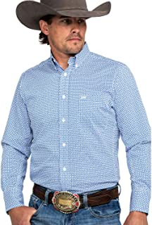 Men's 20X Performance Royal Blue Geo Print Long Sleeve...