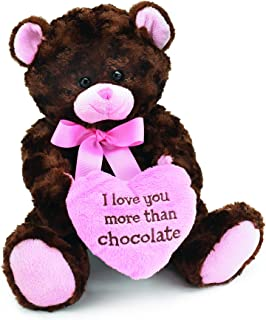 I Love you More Than Chocolate Valentines Day Heart Teddy Bear