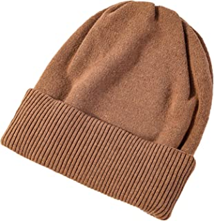 Elonglin Women Beanie Hat Warm Winter Knitted Hat Ladies Outdoor Sports Baggy Beanie Fashion Hemming Hats