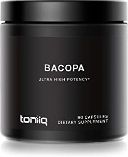 Ultra High Strength Bacopa (Non-GMO) - 50% Bacosides - 500mg - 28X Concentrated Extract - The Strongest Bacopa Monnieri Ca...