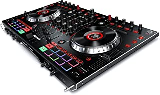 Numark NS6II | 4-Channel DJ Controller For Serato DJ (Included) With Dual USB Ports For Handoffs, 2-Inch Colour LCD Displays, Standalone Digital Mixer, 6-Inch Jog Wheels and MPC Performance Pads