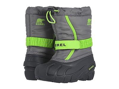 SOREL Kids Flurry (Toddler/Little Kid/Big Kid) (Quarry/Cyber Green) Boys Shoes
