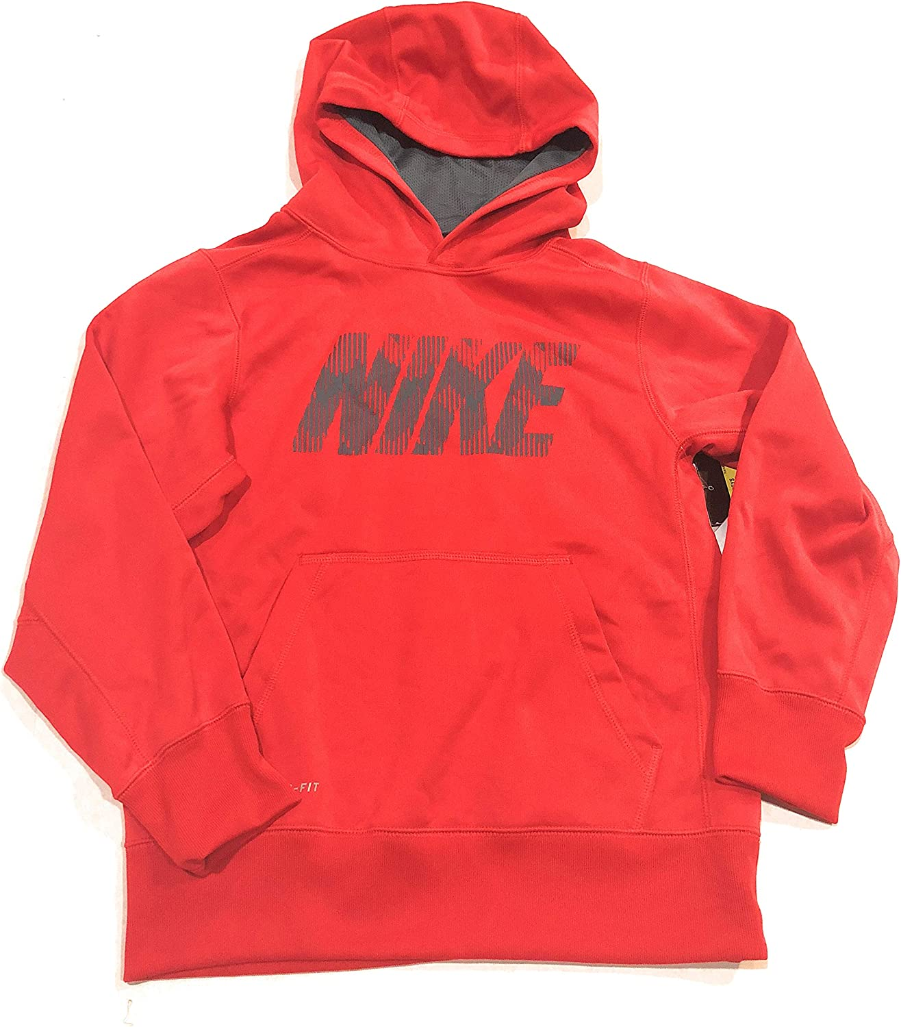 NIKE Boys' KO 2.0 Graphic Pullover Hoodie-red