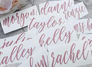 Personalized Bridesmaid Vinyl Decal ONLY DIY for Tumblers Cups Rose Gold on Champagne Glasses Maif of Honor Gifts