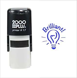 Brilliant! for Students 2000 Plus Self Inking Rubber Teacher Stamp – Blue Ink