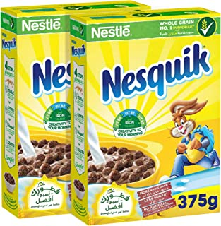 Nesquik Nestle Chocolate Breakfast Cereal 375 gm, (Set of 2) – Promo Pack