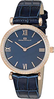 Oceanaut Women's Harmony Stainless Steel Quartz Leather Strap, Blue, 15.4 Casual Watch (Model: OC3215)