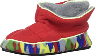 Dearfoams Kids' Df Boy's Fleece Boot Slipper