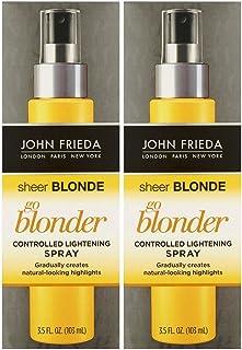 John Frieda シアーブロンドゴーBlonder制御ライトニングスプレー、3.5オンス、2 Pkを