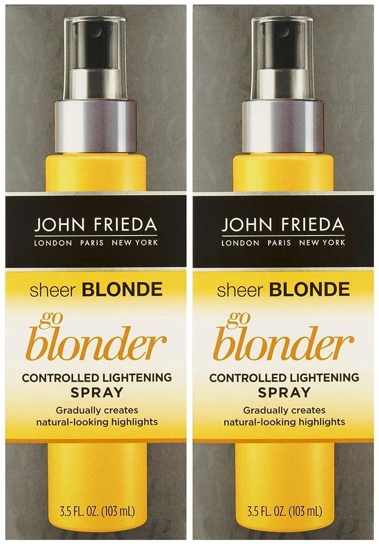 成長給料迅速John Frieda シアーブロンドゴーBlonder制御ライトニングスプレー、3.5オンス、2 Pkを