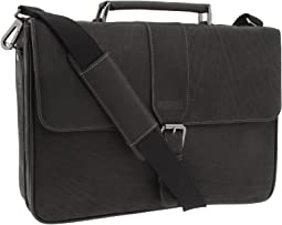 "Kenneth Cole Reaction ""Till Death Do Us Port"" - 5"" Double Gusset Flapover Portfolio Computer Case"