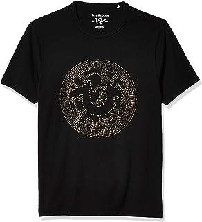 True Religion Men's Branded Short Sleeve Crewneck Graphic Tee