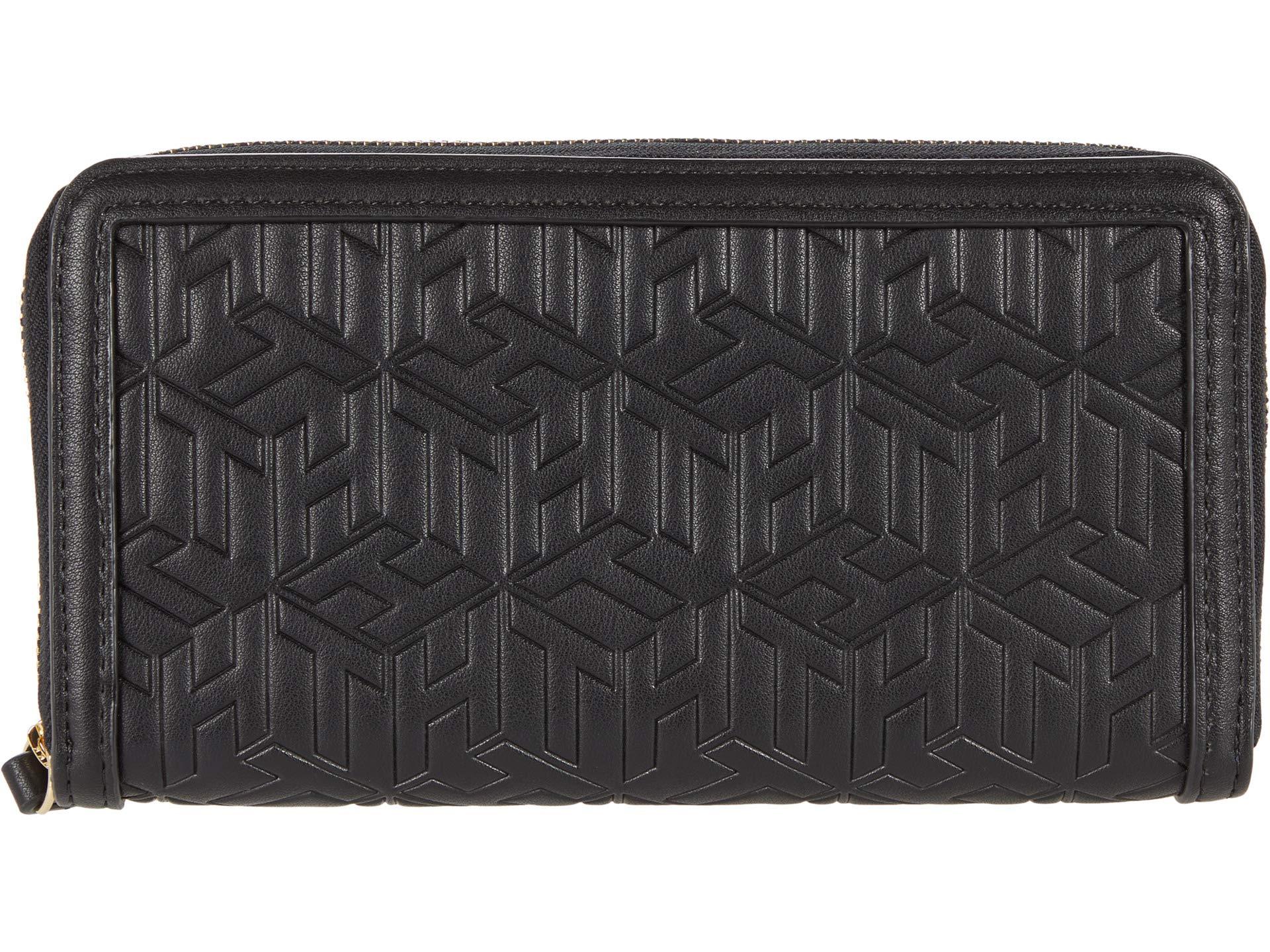 Tommy Hilfiger Tommy Hilfiger April Large Zip Wallet - TH Cube Embossed PVC