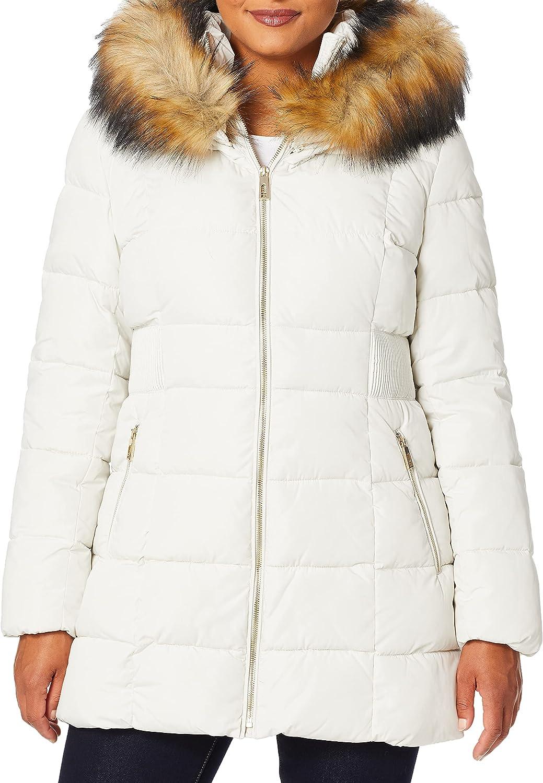 Ivanka Trump Women's Puffer Jacket with Fur Hood