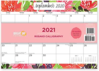 Bright Day Calendars New 2021 Desk Pad Office Calendar by Bright Day, 16 Month 15.5 x 11 Inch, Cute Colorful Planner… (R...