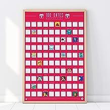 "Gift Republic krasposter ""100 dates Bucket List"", A2, roze"