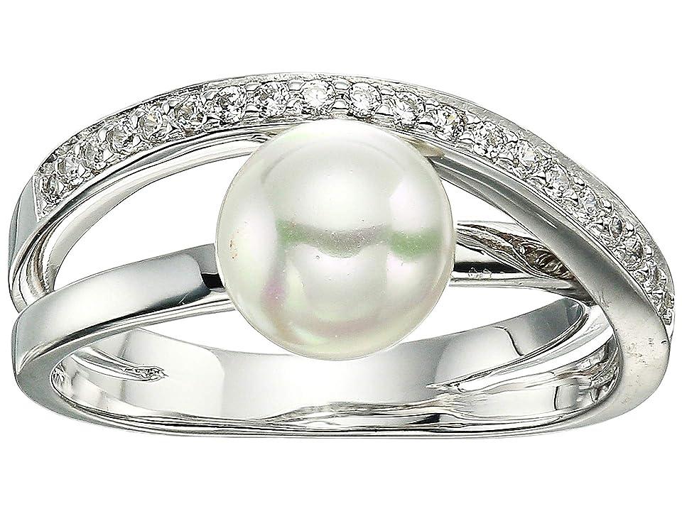 Majorica - Majorica Eternity Rings 8mm White Pearl CZ Sterling Silver Ring