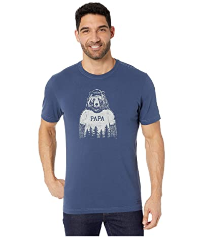 Life is Good Papa Bear Crusher Tee (Darkest Blue 2) Men