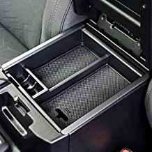 anngrowy Center Console Organizer for Toyota Tacoma 2016 2017 2018 2019 2020 Insert ABS Black Organizer Tray with Textured Anti-Slip Tray Liners, Armrest Box Accessories Secondary Storage