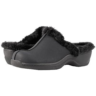 SoftWalk Abigail (Black Soft Nubuck PU/Faux Fur) Women