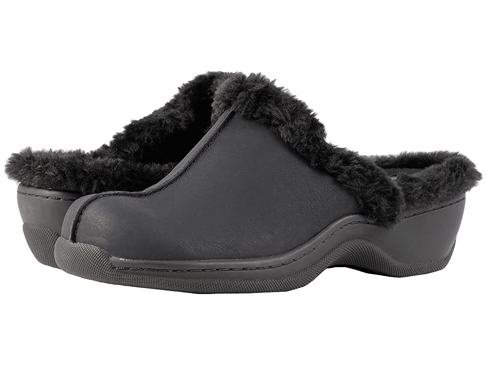 SoftWalk Abigail (Black Soft Nubuck PU/Faux Fur) Women