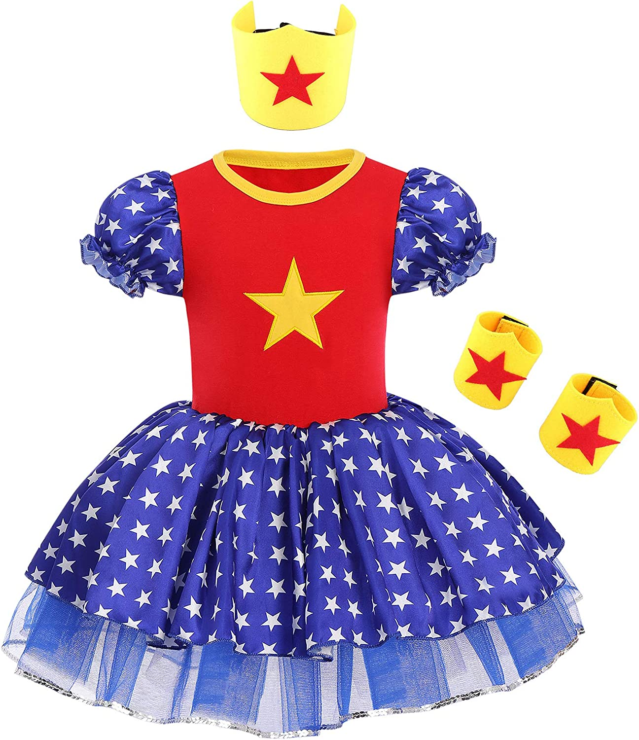 National products Toddler Kids Girls Sequin Ruffle Day 4th Sleeve of Independence Seasonal Wrap Introduction