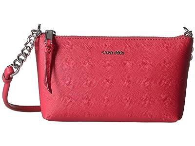 Calvin Klein Hayden Saffiano Key Item Crossbody (Watermelon) Cross Body Handbags