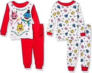 Baby Shark Baby Boys' 4-Piece Cotton Pajama Set