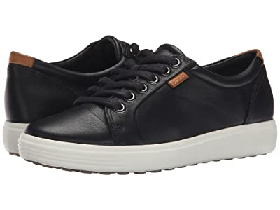 ECCO Soft 7 Sneaker (Black/Black) Women