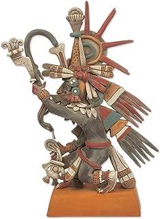 NOVICA 246895 Aztec God Quetzalcoatl' Ceramic Sculpture