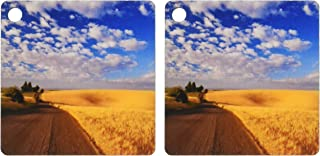 kc_89974 Danita Delimont - Agriculture - Gravel road, agriculture, wheat fields, Idaho - US13 CHA0145 - Chuck Haney - Key Chains