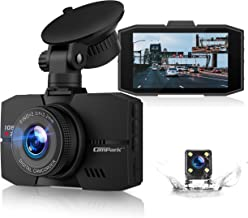 "Campark Dual Dash Cam Full HD Front and Rear 3"" IPS Screen Dashboard Camera for Cars with Loop Recording G-Sensor 170° Wide Angle Night Vision and Parking Mode"