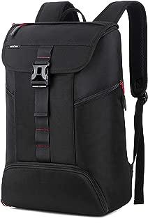 BRINCH Laptop Backpack Slim Business Casual Laptop Bag Anti Theft Travel Computer Rucksack College Bookbag Gym Bag Water Resistant Outdoor Backpack for Men Women Fits 15-15.6 Inch Laptop, Black