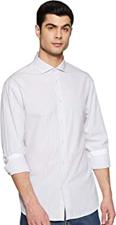 Celio Mens Slim Collar Slub Formal Shirt