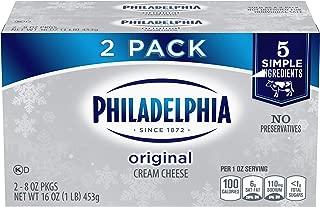 Philadelphia Cream Cheese Spread (8 oz Bricks, Pack of 2)
