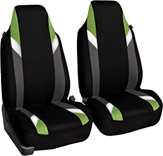FH Group FB133GREEN102 Bucket Seat Cover (Supreme Modernistic Airbag Compatible (Set of 2) Green)