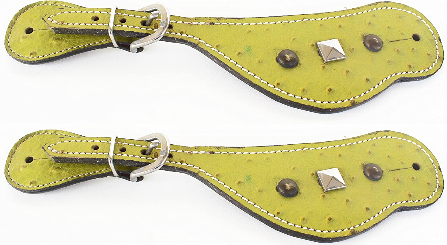 PRORIDER Horse Western Riding Cowboy Boots Leather Spur Straps Tack 7474