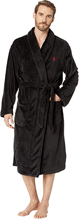 63b5cd2dd4 Microfiber Plush Long Sleeve Shawl Collar Robe. Like 0. Polo Ralph Lauren.  Microfiber Plush Long ...