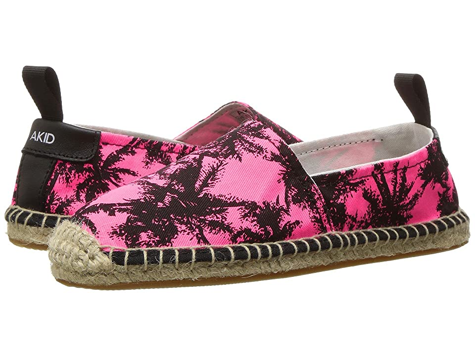AKID Brand Elle (Toddler/Little Kid/Big Kid) (Neon Pink Palm) Girls Shoes