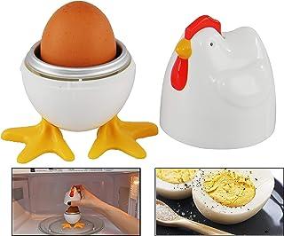 HOME-X Eierkocher mit Hühnchen und Beinen für ein einzelne