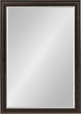 Kate and Laurel Aldridge Framed Decorative Rectangle Wall Mirror, 28x40 Bronze