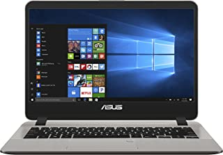 Asus Vivobook  X407UA-EB397T Laptop (Gray) - Intel i5-8250U 3.4 GHz, 4 GB RAM, 1000 GB HDD, Shared, 14 inches LED, Windows 10 Home, Eng-Arb-KB