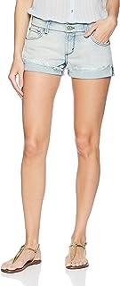 James Jeans Women's Charlie Rolled Hem Baggy Boyfriend Shorts in Crossroads