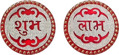 Aheli Handmade Acrylic Shubh Labh Sticker Indian Traditional Diwali Festive Home Office Door Decoration