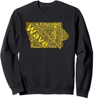 Iowa Wave to the Brave Sick Children's Hospital Word Cloud Sweatshirt