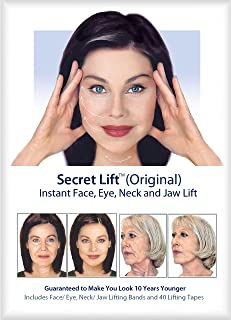 Instant Face, Neck and Eye Lift Tapes and Bands (Dark and Light Hair)
