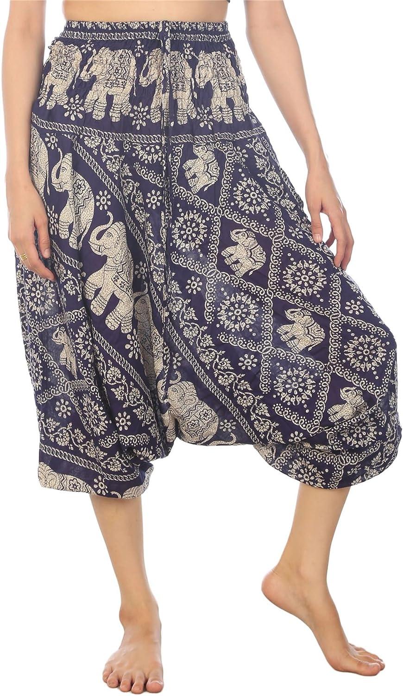 LOFBAZ Ranking TOP2 Yoga Harem Pants for Bohemian Women Our shop most popular Elephant Hippie Boho